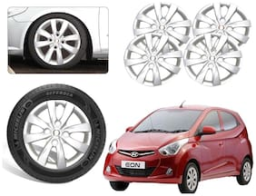 Autopearl 12'' Full Wheel Cover For Eon (Set Of 4)