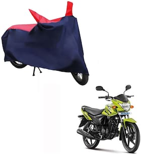 AutoRetail Dust Proof Two Wheeler Polyster Cover for Suzuki Slingshot (Mirror Pocket;Red and Blue Color)