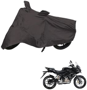 AutoRetail Dust Proof Two Wheeler Polyster Cover for Bajaj Pulsar AS 150 (Mirror Pocket;Grey Color)