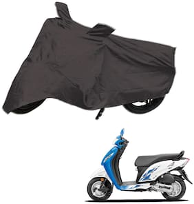 AutoRetail Dust Proof Two Wheeler Polyster Cover for Honda Activa i (Mirror Pocket;Grey Color)