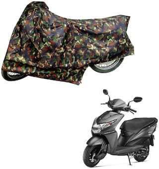 AutoRetail Dust Proof Two Wheeler Polyster Cover for Honda Dio (Mirror Pocket;Multi Color)