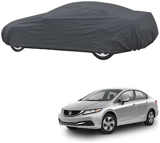 AutoRetail Honda CIVIC Grey Car Body Cover for 2017 Model (Triple Stiched;without Mirror Pocket)