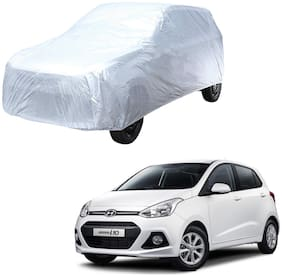 AutoRetail Hyundai Grand i10 Silver Matty Car Body Cover for 2012 Model (Triple Stiched;without Mirror Pocket)