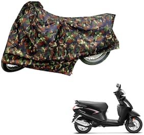 AutoRetail Two Wheeler Polyster Cover for Hero Pleasure with Sun Protection (Mirror Pocket;Multi Color)