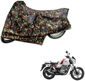 AutoRetail Two Wheeler Polyster Cover for Bajaj V15 with Mirror Pocket (Multi Color)