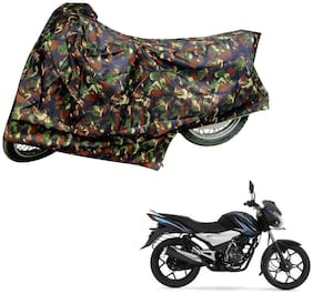 AutoRetail Weather Resistant Two Wheeler Polyster Cover for Bajaj Discover 100T (Mirror Pocket;Multi Color)