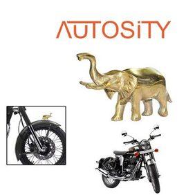 AUTOSiTY Angry Elephant Bike Emblem for Royal Enfield Classic Chrome