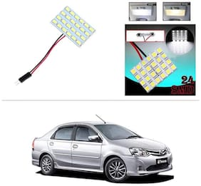 AutoStark 24 SMD White LED Lamp Car Dome Ceiling Roof Interior Reading Light-Toyota Etios