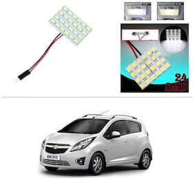 AutoStark 24 SMD White LED Lamp Car Dome Ceiling Roof Interior Reading Light-Chevrolet Beat