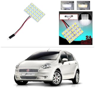 AutoStark 24 SMD White LED Lamp Car Dome Ceiling Roof Interior Reading Light-Fiat Punto