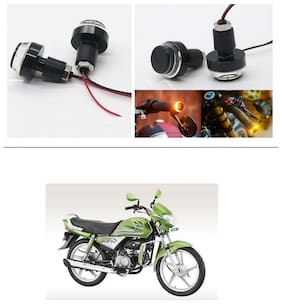 AutoStark 2X Motorcycle DRL/Turn Signal LED Light Blinker Indicator Handle Bar End For Hero HF Deluxe Eco
