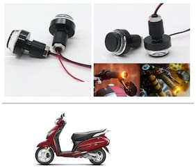 AutoStark 2X Motorcycle DRL/Turn Signal LED Light Blinker Indicator Handle Bar End For Honda Activa 125