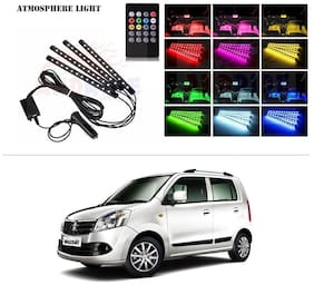 AutoStark 4 In1 Atmosphere Music Control 12 Led Foot Strip Light Car Interior Decorative Light (12 LED)-Maruti Suzuki Wagon R Duo