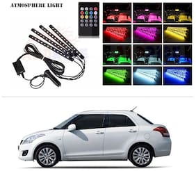 AutoStark 4 In1 Atmosphere Music Control 12 Led Foot Strip Light Car Interior Decorative Light (12 LED)-Maruti Suzuki Swift Dzire (Old)