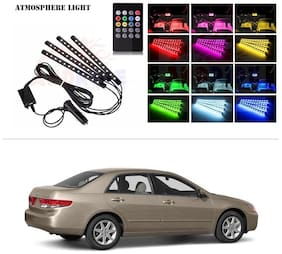AutoStark 4 In1 Atmosphere Music Control 12 Led Foot Strip Light Car Interior Decorative Light (12 LED)-Honda Accord (2nd Generation)