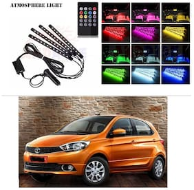 AutoStark 4 In1 Atmosphere Music Control 12 Led Foot Strip Light Car Interior Decorative Light (12 LED)-Tata Tiago
