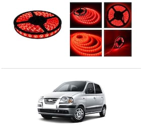 AutoStark 5 m Waterproof Cuttable LED Lights Strip Roll-Red- Hyundai Santro Xing
