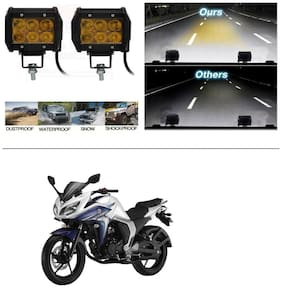 AutoStark 6 LED Fog Light / Work Light Bar Spot Beam Off Road Driving Lamp 2 Pcs For Yamaha FZ S V 2.0