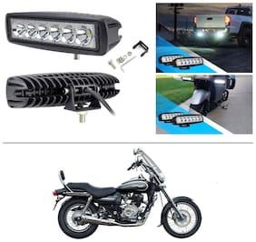 AutoStark 6 LED 18W CREE Fog Light/Work Light Bar Spot Beam Off Road Driving Lamp Pack of 2 for Bajaj Avenger 220 Cruise