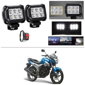 AutoStark 6 LED Bar Light Universal Bike Car Fog Light - Version 2 - Work Light Set of 2 For Yamaha SZ X