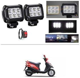 AutoStark 6 LED Bar Light Universal Bike Car Fog Light - Version 2 - Work Light Set of 2 For Mahindra Flyte