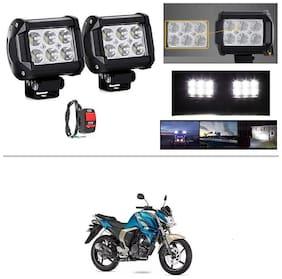 AutoStark 6 LED Bar Light Universal Bike Car Fog Light - Version 2 - Work Light Set of 2 For Yamaha FZ-S