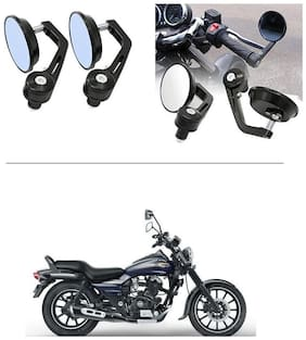 AutoStark 7/8 22cm Motorcycle Rear View Mirrors Handlebar Bar End Mirrors - Bajaj Avenger 150 Street