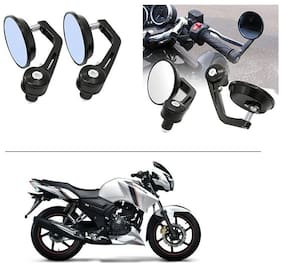 AutoStark 7/8 22cm Motorcycle Rear View Mirrors Handlebar Bar End Mirrors - TVS Apache RTR 160