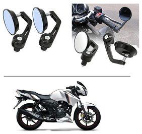 AutoStark 7/8 22cm Motorcycle Rear View Mirrors Handlebar Bar End Mirrors - TVS Apache RTR 160