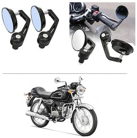 AutoStark 7/8 22cm Motorcycle Rear View Mirrors Handlebar Bar End Mirrors - Hero Splendor Pro Classic