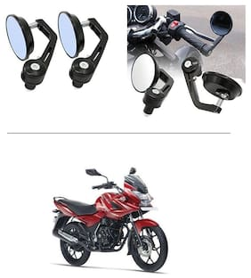 AutoStark 7/8 22cm Motorcycle Rear View Mirrors Handlebar Bar End Mirrors - Bajaj Discover 150 f