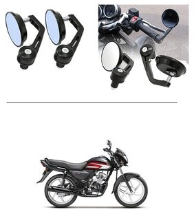 AutoStark 7/8 22cm Motorcycle Rear View Mirrors Handlebar Bar End Mirrors - Honda CD 110 Dream