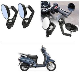 AutoStark 7/8 22cm Motorcycle Rear View Mirrors Handlebar Bar End Mirrors - Honda Activa 3G