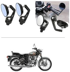 AutoStark 7/8 22cm Motorcycle Rear View Mirrors Handlebar Bar End Mirrors - Royal Enfield Bullet 500