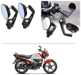 AutoStark 7/8 22cm Motorcycle Rear View Mirrors Handlebar Bar End Mirrors - Hero Splendor I Smart
