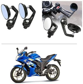 AutoStark 7/8 22cm Motorcycle Rear View Mirrors Handlebar Bar End Mirrors - Suzuki Gixxer SF