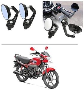 AutoStark 7/8 22cm Motorcycle Rear View Mirrors Handlebar Bar End Mirrors - Hero Passion Pro