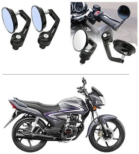 AutoStark 7/8 22cm Motorcycle Rear View Mirrors Handlebar Bar End Mirrors - Hero Glamour