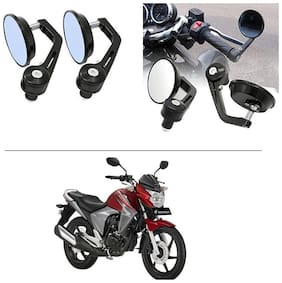 AutoStark 7/8 22cm Motorcycle Rear View Mirrors Handlebar Bar End Mirrors - Honda Unicorn Dazzler