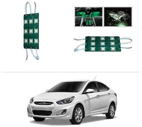 AutoStark 9 LED Custom Cuttable Car Green Light for Interior For Hyundai Verna Fluidic