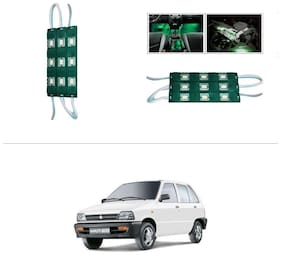 AutoStark 9 LED Custom Cuttable Car Green Light for Interior For Maruti Suzuki-800 (Maruti Car)