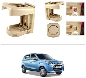 AutoStark Beige Foldable Car Drink Holder Set Of 2 pc For Maruti Suzuki Alto 800