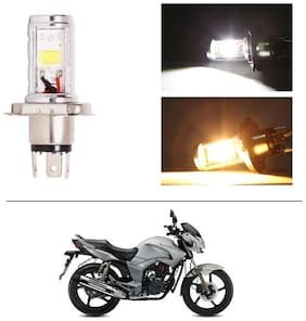 AutoStark Bike CYT Double Sided Headlight LED H4 White and Yellow- Hero Hunk