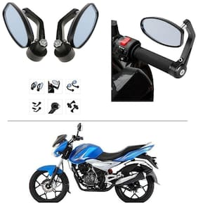 AutoStark Bike Rear View Mirror Set of 2 Black - Bajaj Discover
