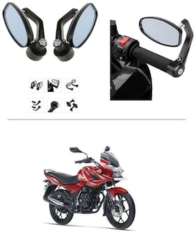 AutoStark Bike Rear View Mirror Set of 2 Black - Bajaj Discover 150 f