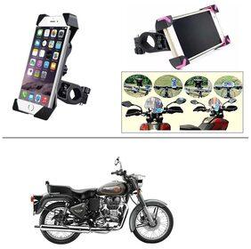 AutoStark Bike Holder 360 Degree Rotating Bicycle Holder Motorcycle cell phone Cradle Mount Holder for For Royal Enfield Bullet 500