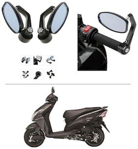 AutoStark Bike Rear View Mirror Set of 2 Black - Honda Dio