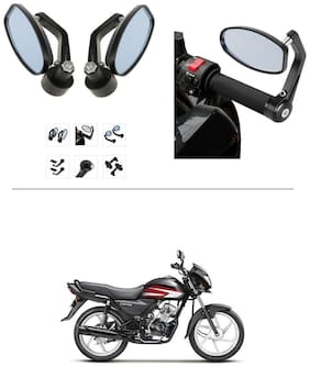 AutoStark Bike Rear View Mirror Set of 2 Black - Honda CD 110 Dream