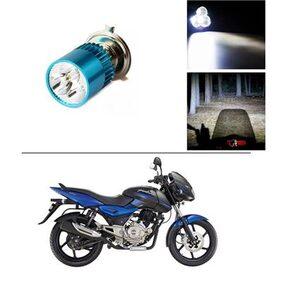 AutoStark Bike H4 3LED Bright Light Bulb White For Bajaj Pulsar 150 DTS-i