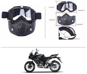 AutoStark Bike Scoter Motorcycle Protective Goggles Bike Face Mask Bike Face Shield (White Glass) For  Bajaj Pulsar AS 150